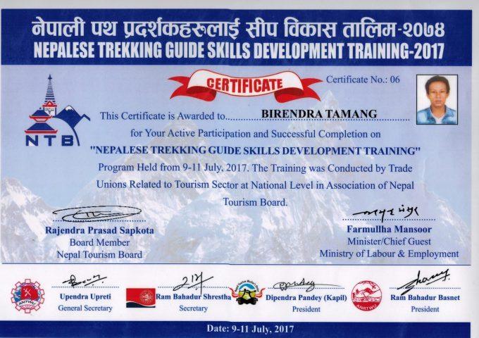 Trek guide skill development training
