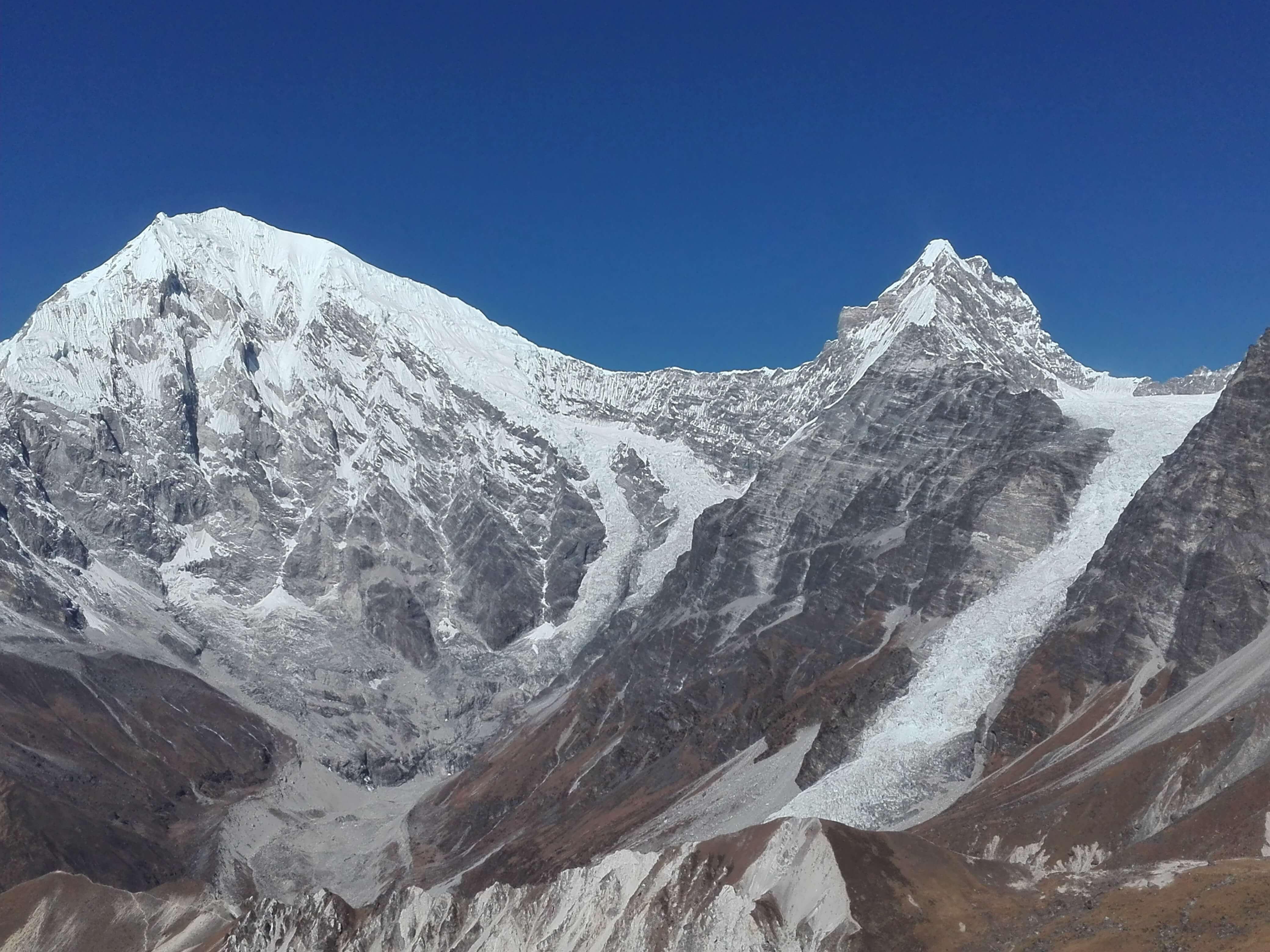 Langtang Lirung and Yubra Himal