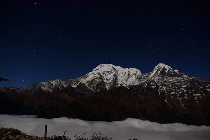 South Annapurna and Hiuchuli Peak.