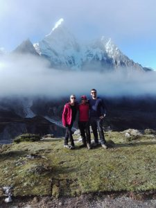 Ama Dablam on the background