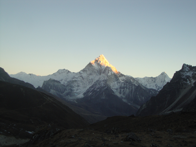 Sunset on Mt. Ama Dablam.